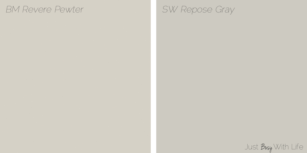 Repose Gray Master Bedroom Revere Pewter vs Repose Gray | Just Busy With Life